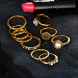 Tibetan Style Midi Rings - 12 Piece Set - 2 Colours Available