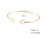 Geometric Double Triangle Bangle - Gold and Silver Available