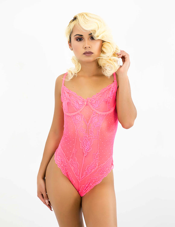 Hyper Candy Mesh Teddy - P Cosse