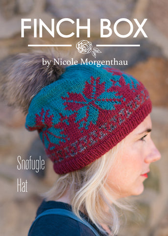 Finch Snøfugle Hat Pattern