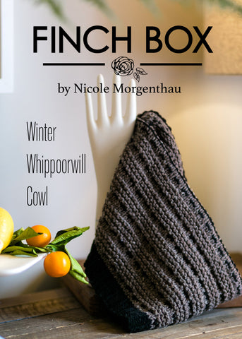 Finch Winter Whippoorwill Cowl Pattern