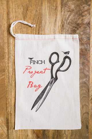 Finch Cotton Project Bag