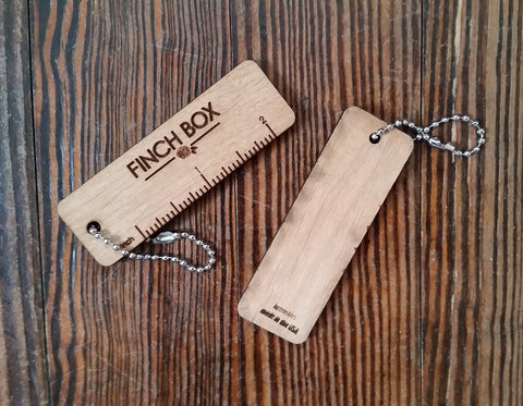 "Finch Box 2"" Gauge Swatch Keychain"
