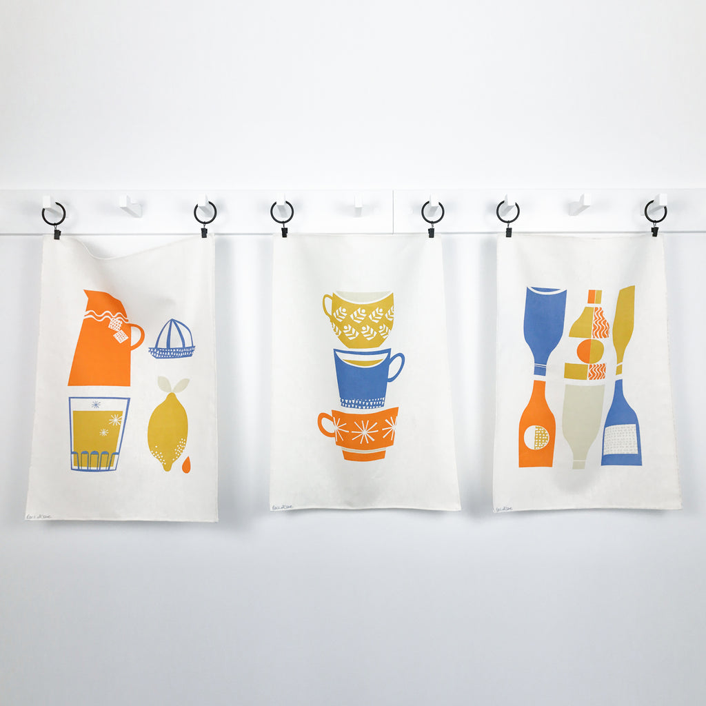 Retro Refresh Tea Towel Fabric