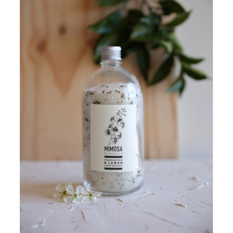 Handcrafted Bath Soak - Apothecary Bottle Large