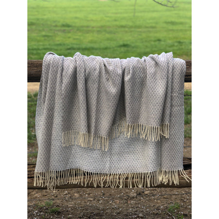 Willow Merino Throw Rug - Grey