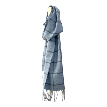 Scarf - Blue Check
