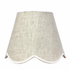 Scalloped Lampshade - Natural Linen with Trim
