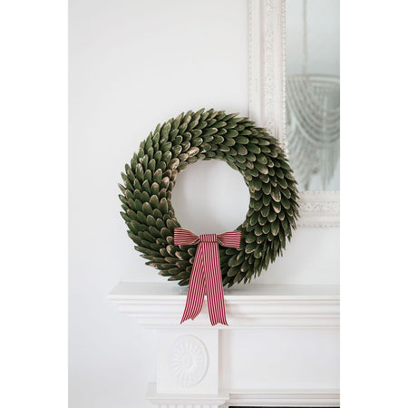 Wooden Leaf Wreath