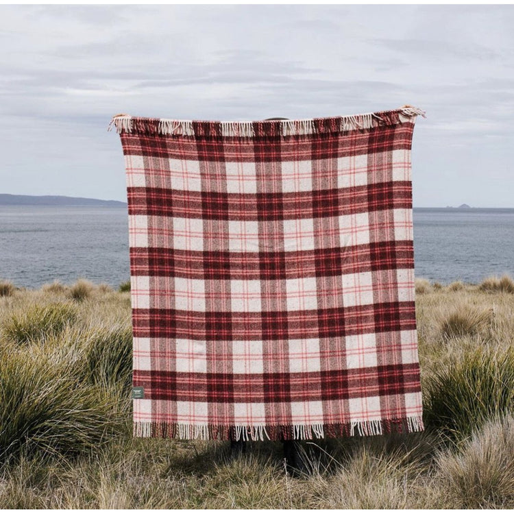 Travel & Picnic Rug - Wine Pink