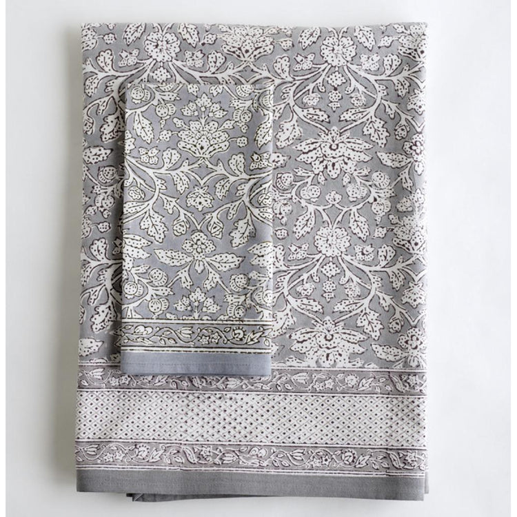 Kerela Greys - Tablecloth and Napkin Set