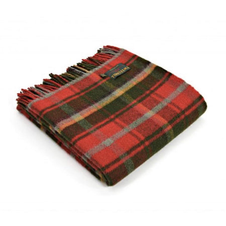 Tartan Throw Rug - Maple