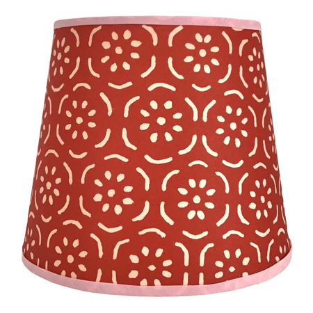 Petite Paper Lampshade - Raspberry & Pink