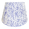 Gathered Lampshade - Speckled Blue & White