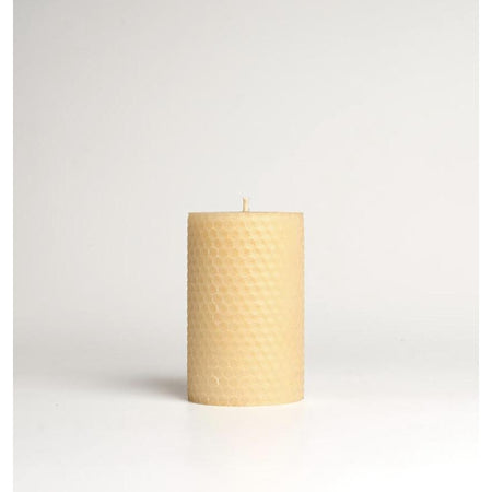 Honeycomb Rolled Beeswax Pillar Candle