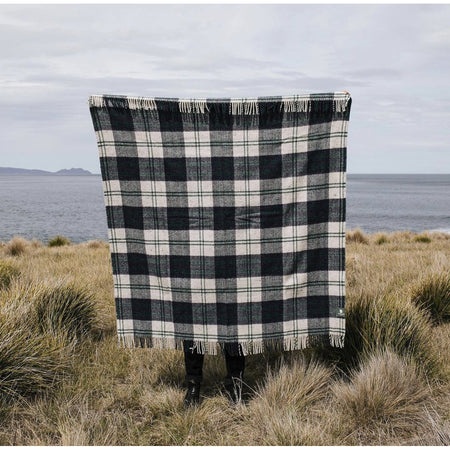 Travel & Picnic Rug - Navy/Forest