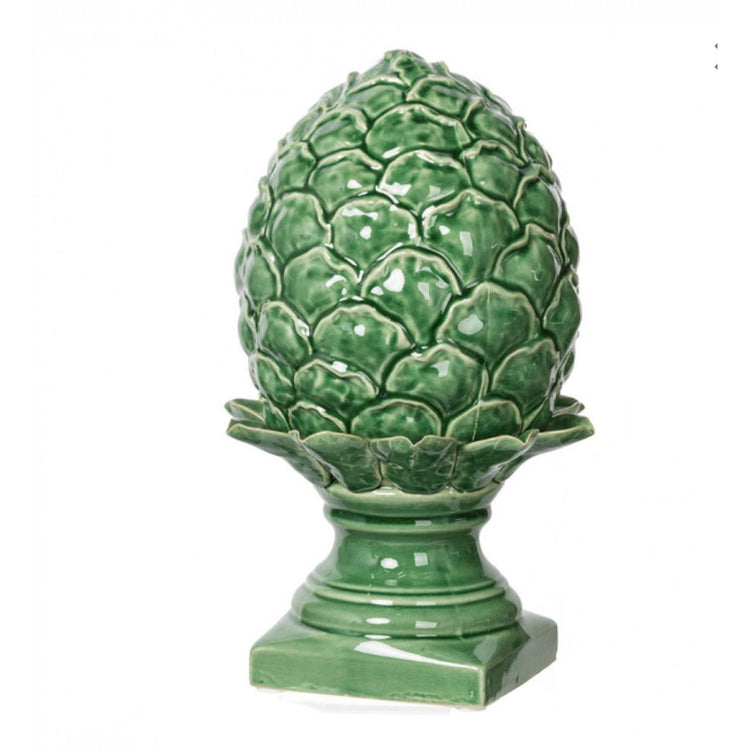 Green Artichoke In Glazed Ceramic