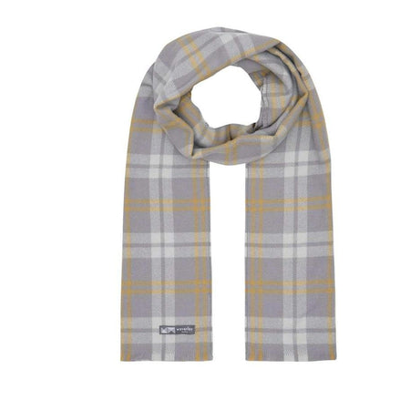 Mini Check Merino Scarf - Yellow/Grey
