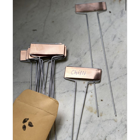 Copper Plant Labels