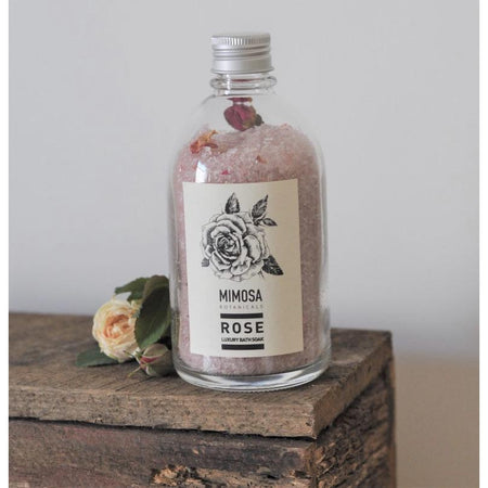 Handcrafted Bath Soak - Apothecary Bottle Small