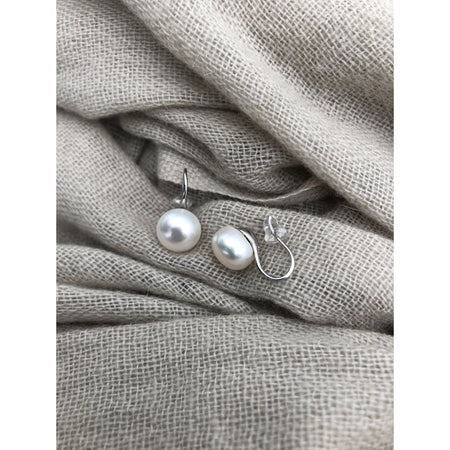 Freshwater Pearl Earrings ~ Sterling Silver