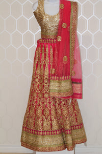 Fancy Pink and Gold Lehenga