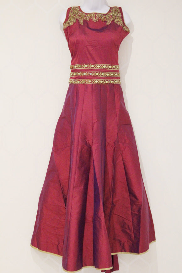 Simple Maroon Lehenga