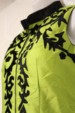 Lime Green Suit with Black Design