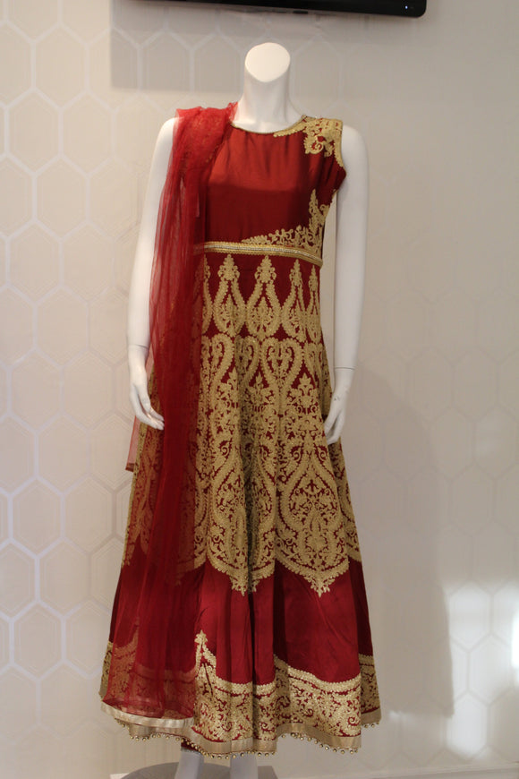 Fancy Maroon Dress