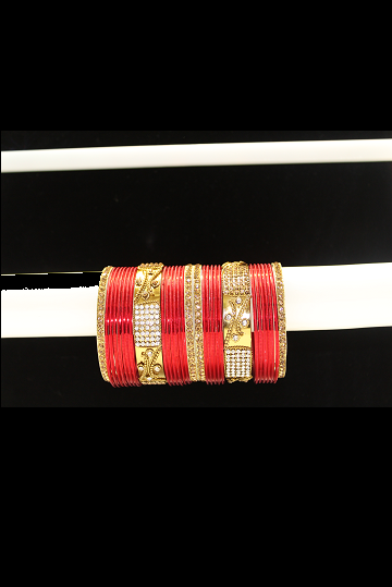 Red Bangle Set