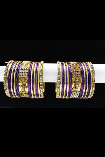 Purple Bangle Set
