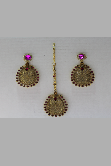 Copper Earrings and Tikka
