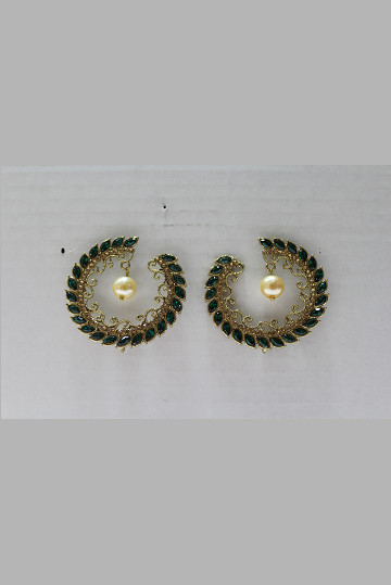 Gold Plated Polki Earrings