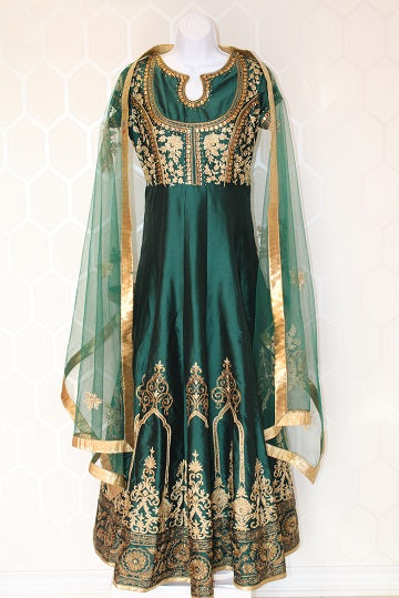 Dark Green Indian Dress