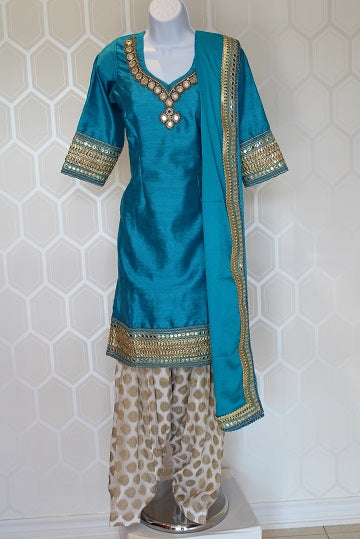 Light Blue Punjabi Salwar Suit