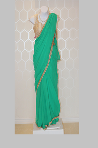 Simple Green Saree