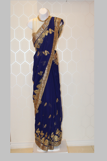 Royal Blue Saree