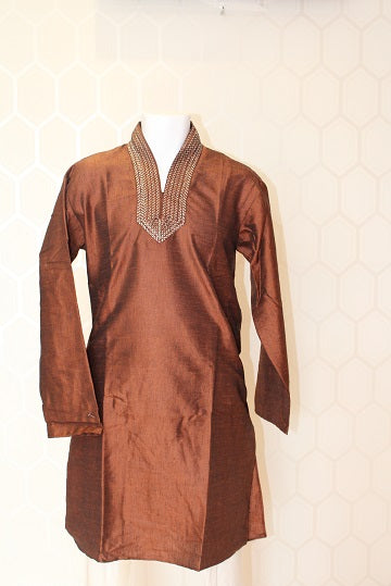 Simple Brown Kurta Pajama