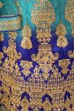 Turquoise and Blue Lehenga
