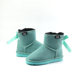 Teal ETC Slipper Bow Boots - Pre order