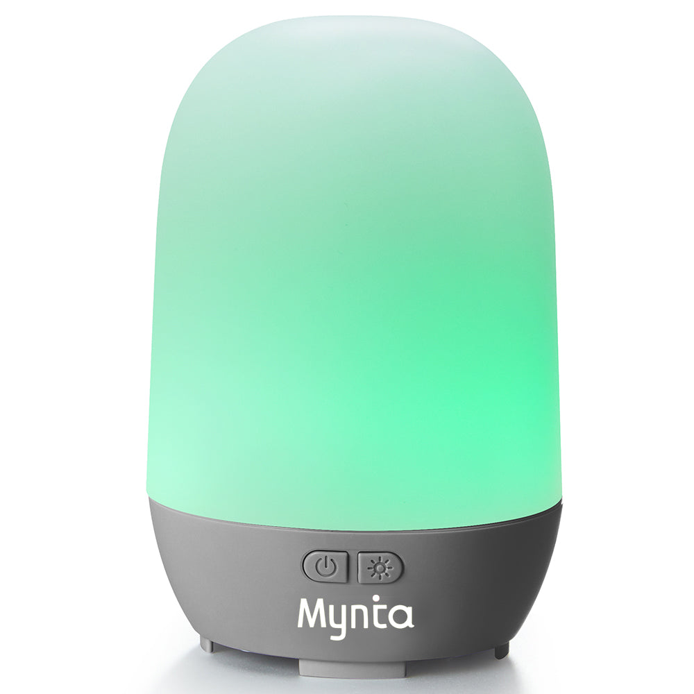 Mynta Essential Oil Diffuser Cool Mist 100ml Humidifier 10+ Hours with 7 Colors LED Lights BPA Free Waterless Auto Shut-Off for Home Office Bedroom Baby Room