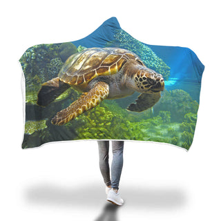 Hooded Blanket Sea Turtle