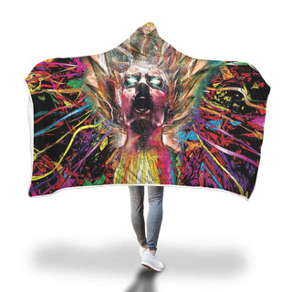 Hooded Blanket Psychedelic