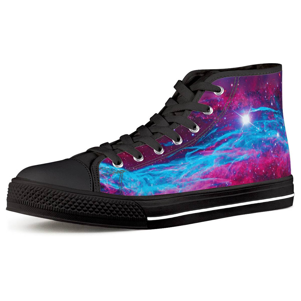 Deep Space - Black High Top Canvas Shoes