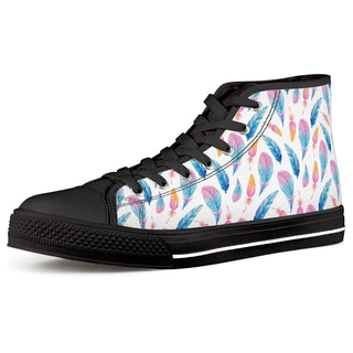 Fly Away - Black High Top Canvas Shoes