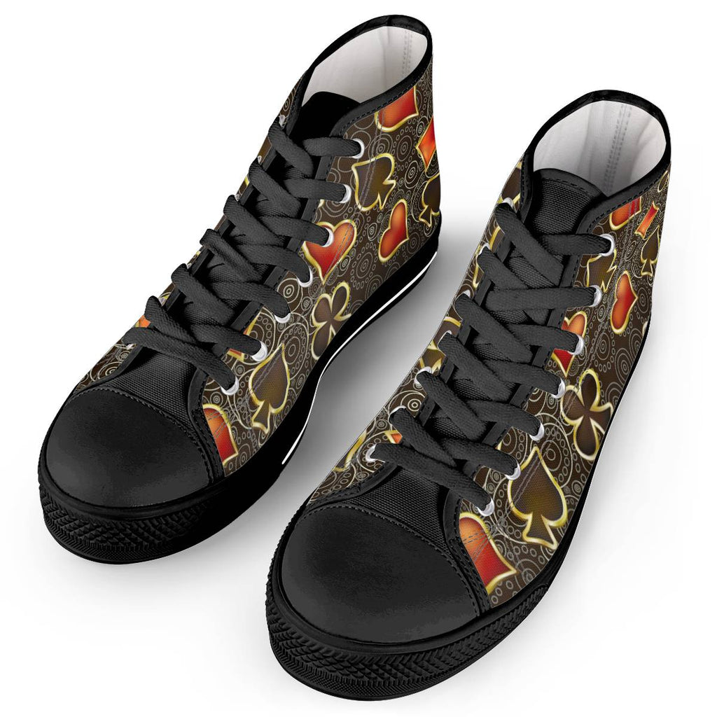 Poker Black - High Top Canvas Shoes