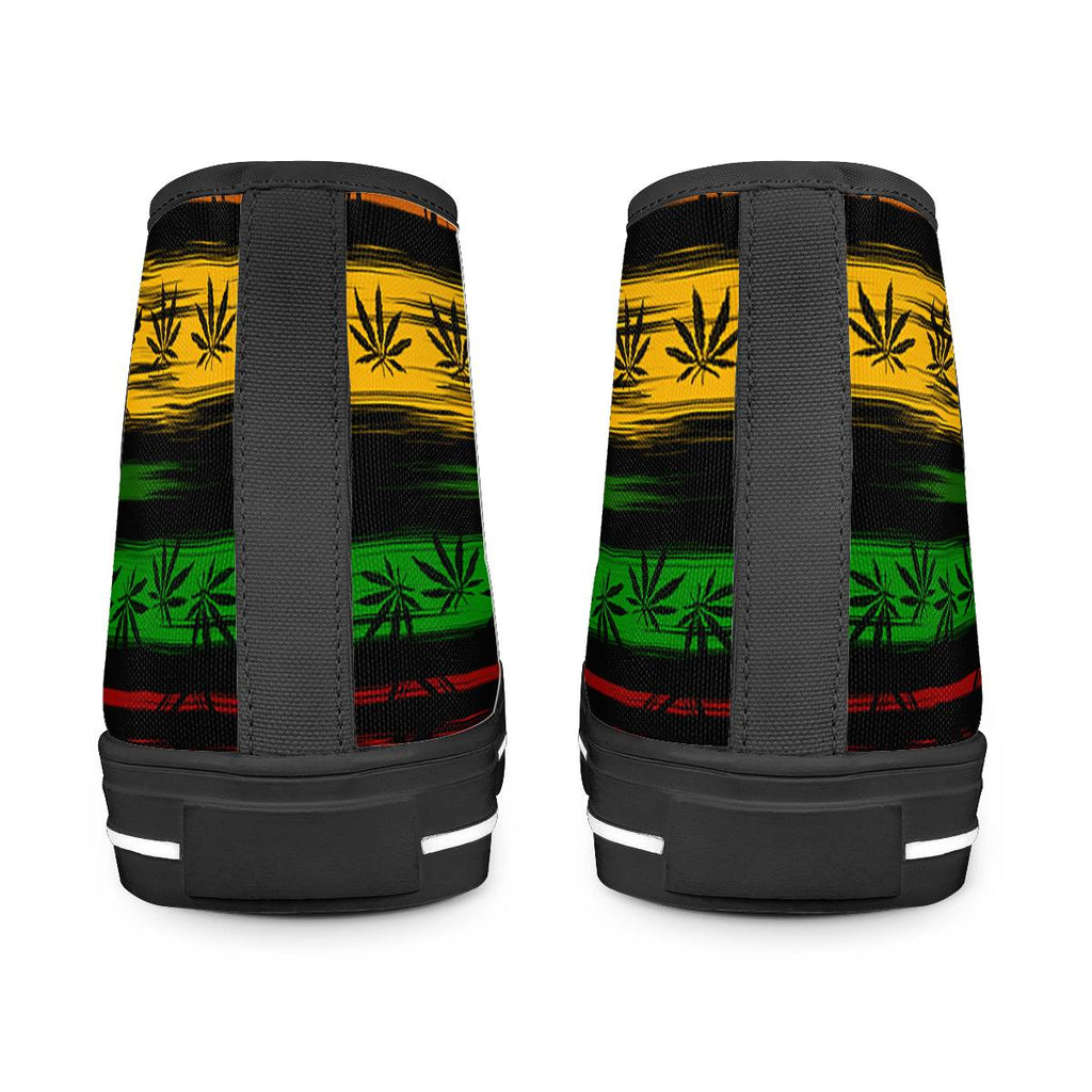 Rasta - Black High Top Canvas Shoes