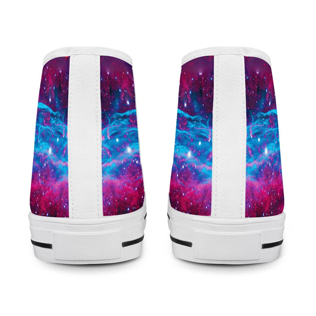 Deep Space - White High Top Canvas Shoes