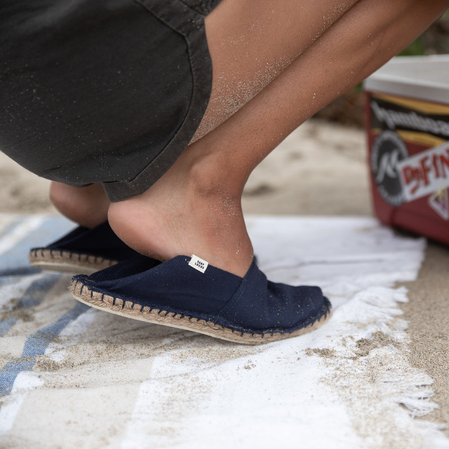 women's espadrilles slip on shoes navy blue