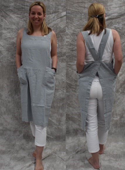 Pure French Pinafore-duck egg blue